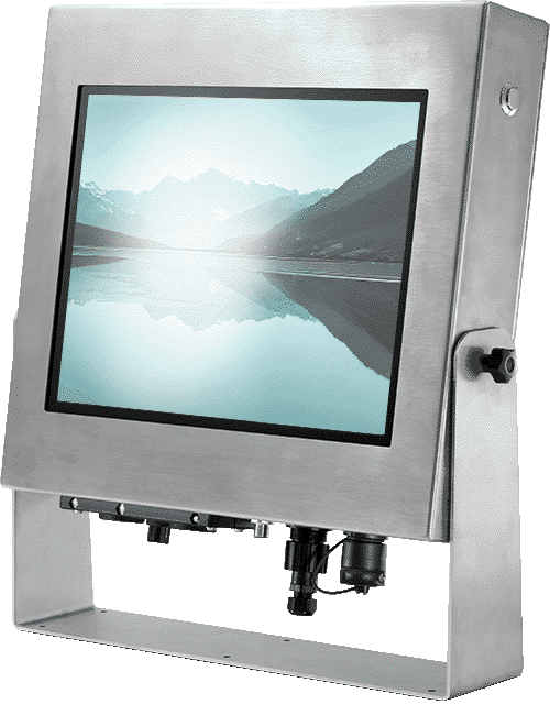 Komputer panelowy może być dodatkowo zabezpieczony przed czynnikami atmosferycznymi i posiadać podwyższone standardy wodoodporności